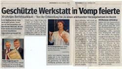 Die GW Tirol feiert 30-jähriges Betriebsjubiläum