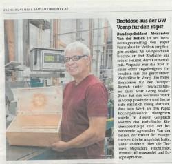 Brotdose aus der GW Tirol für den Papst